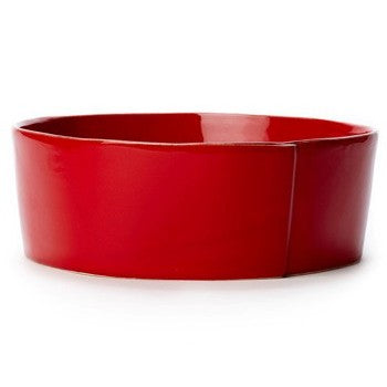 Vietri Lastra Red Large Serving Bowl