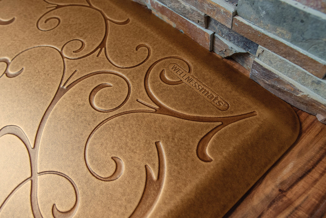 WellnessMats Bella Collection in Copper Leaf 3' by 2'