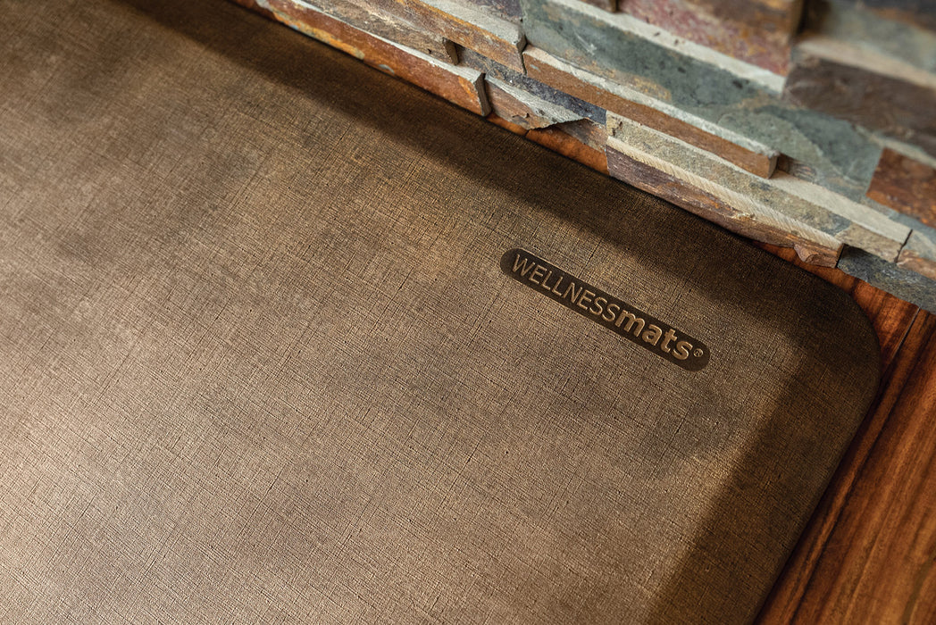 WellnessMats Linen Collection in Copper, 6' by 2'