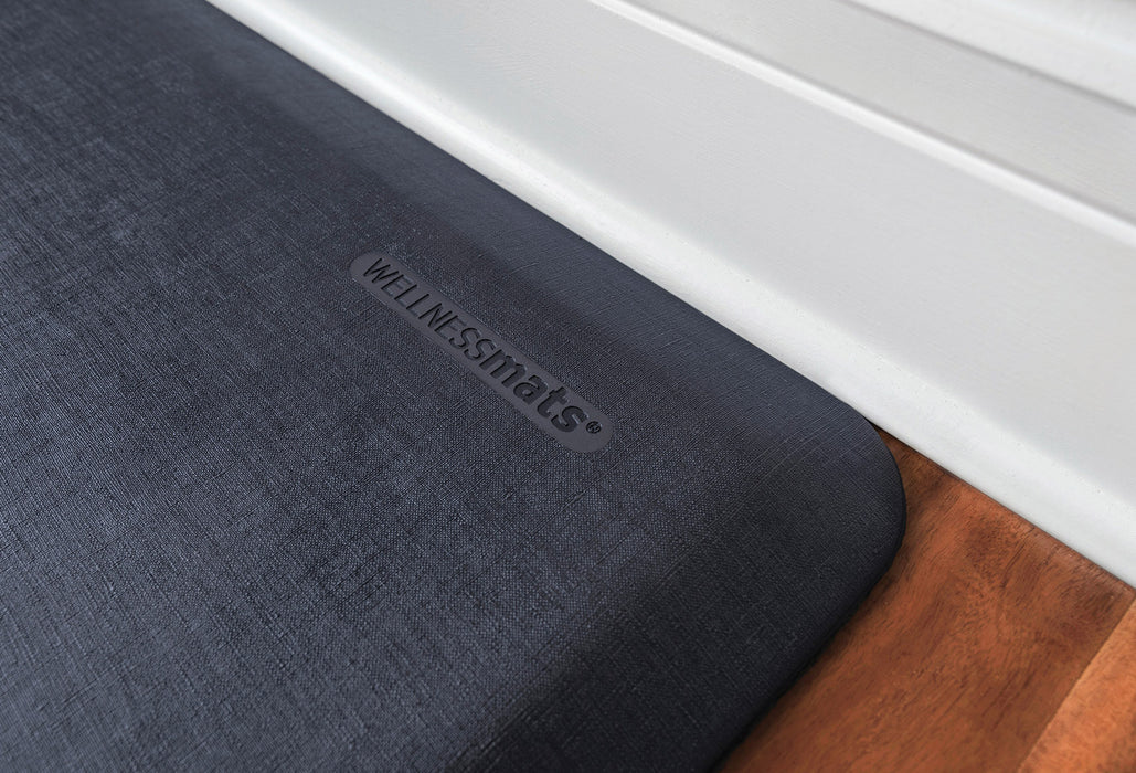 WellnessMats Linen Collection in Midnight Blue, 6' by 2'