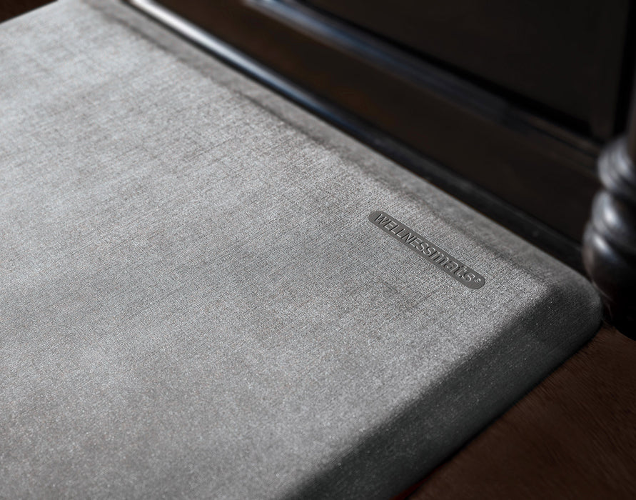 WellnessMats Linen Collection in Slate, 6' by 2'