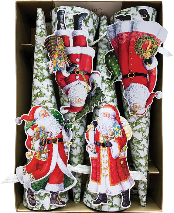 Woodland Santa Cone-Shaped Celebration Christmas Crackers