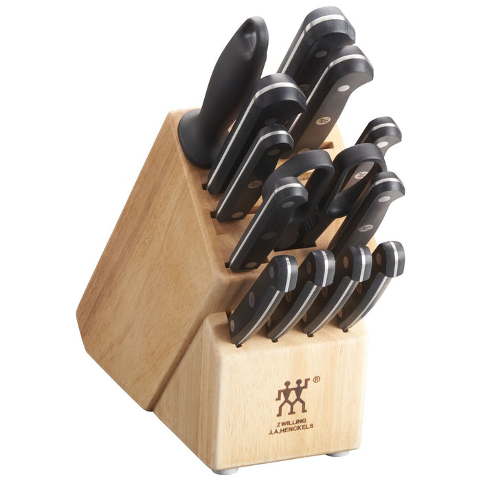 ZWILLING Gourmet Stamped 14 Pc Knife Block Set