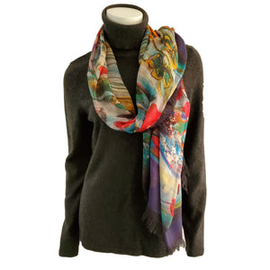 Multi Coloured Sparrow Scarf