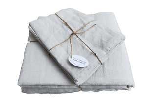 Queen Sheet Set Light Grey (4 pieces)