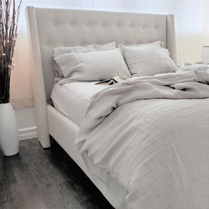Queen Flat Sheet Light Grey