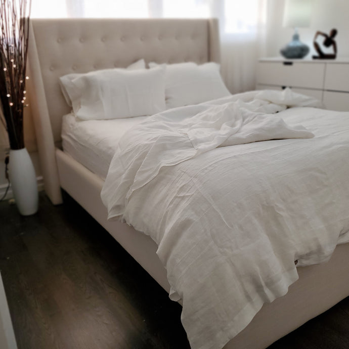 King Duvet Set White (3 pieces) Save 25$