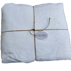 Queen Fitted Sheet White