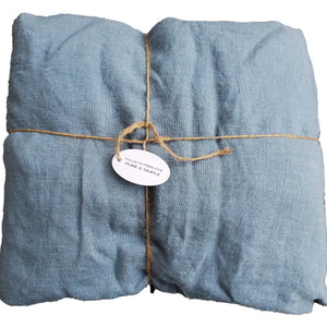King Fitted Sheet Blue/Grey