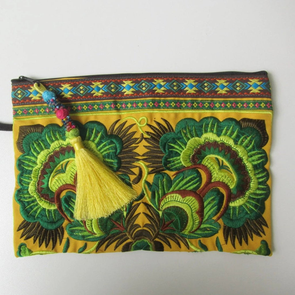 Lily Embroidered Clutch Purse