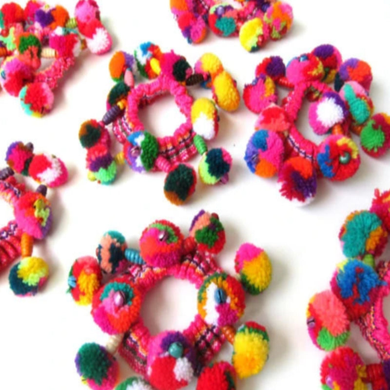 10pcs + Girls Pom Pom Hair Scrunchies