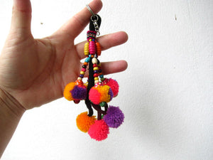 Pompom Dangle Keychain