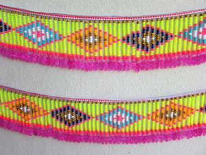 Hmong Handmade Beaded Trim