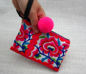 10pcs Lotus PomPom Coin Purse