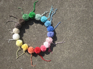 Yarn Pompoms with String
