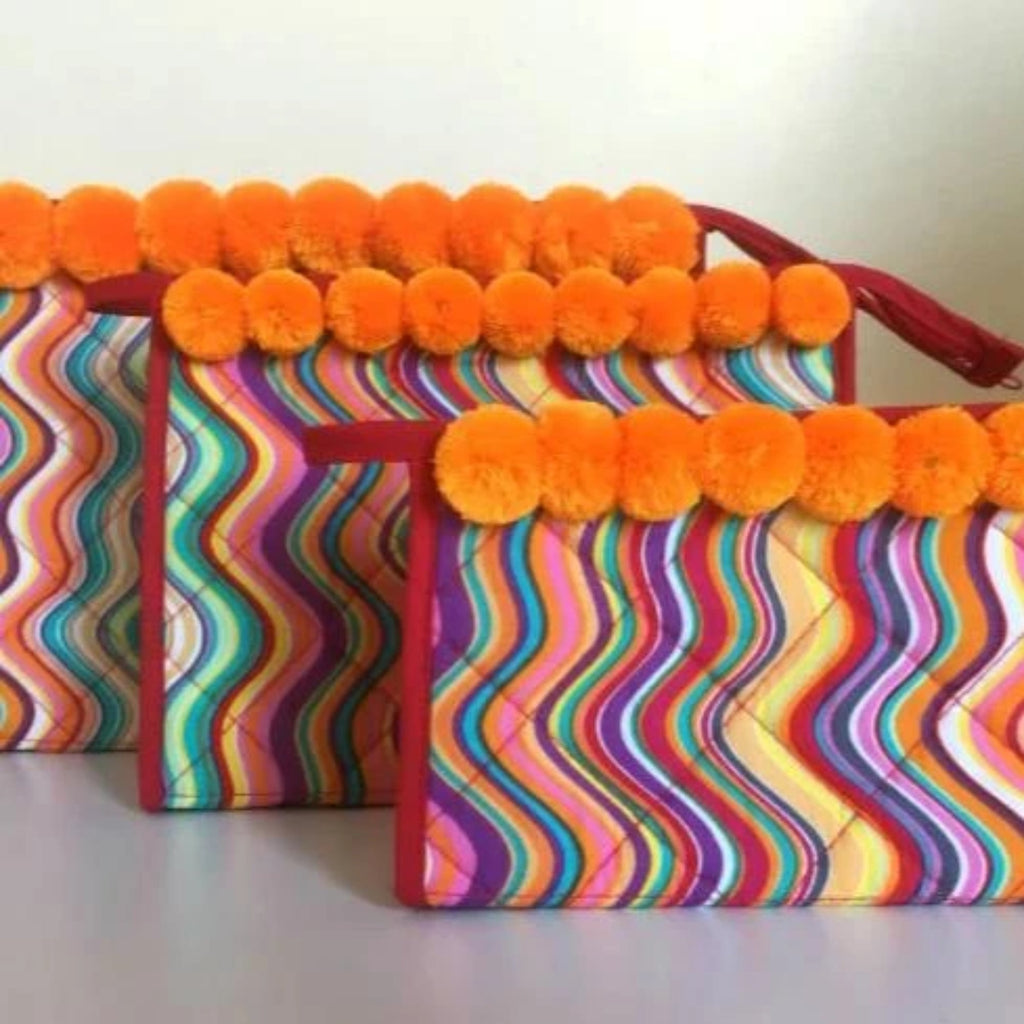 Mango Abstract Cosmetic Bags Makeup Bag
