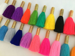 Gold Filigree Cap Jewelry Tassels