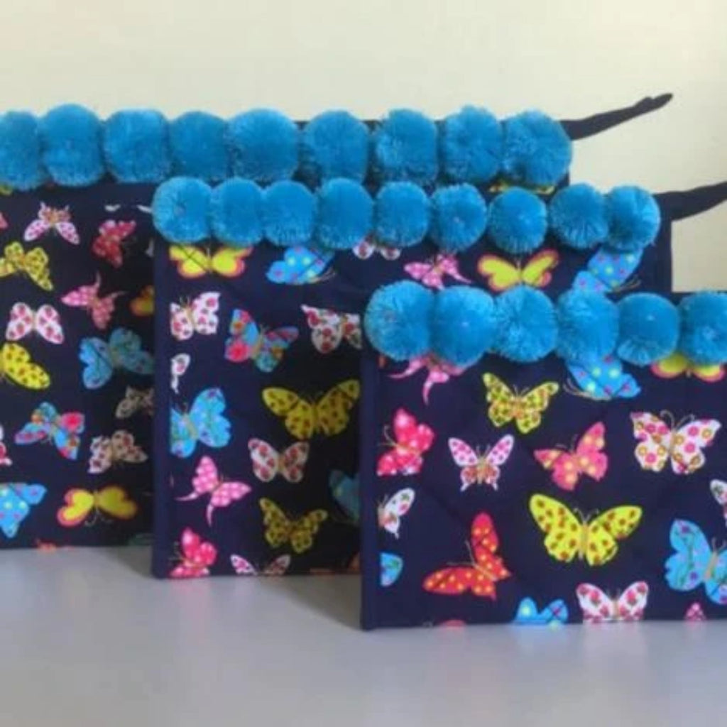 Butterflies Cosmetic Bags Makeup Bag