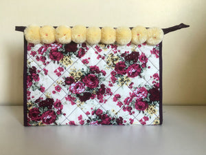Floral Cosmetic Travel Bag