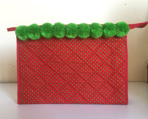 Red Polka Dot Cosmetic Bag