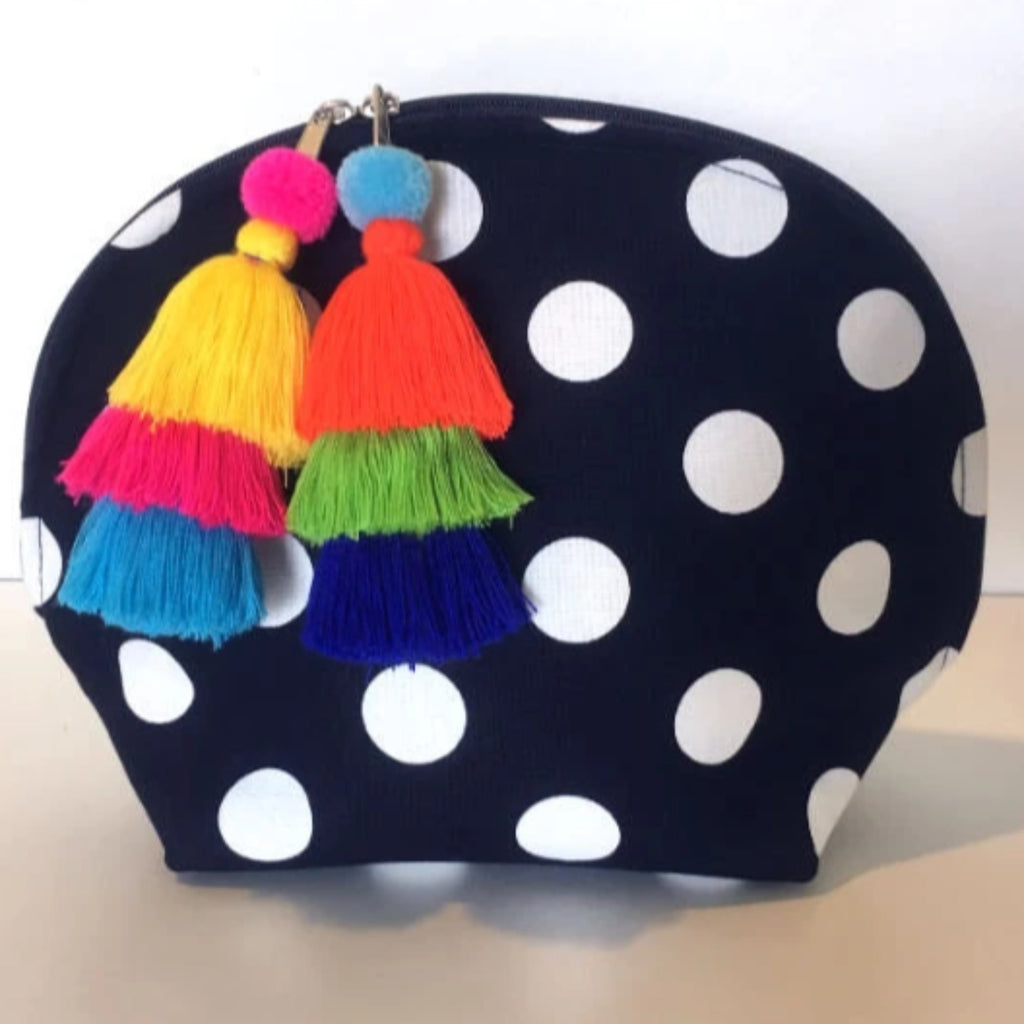 Ipanema Navy White Polka Dot Clutch