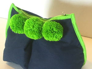 Tangalle Navy Lime Green Clutch