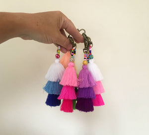 Emily Tassel Ombre Keychain