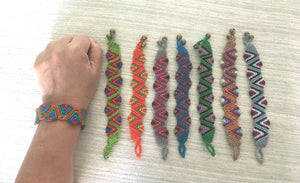 Woven Friendship Bracelets / Handmade Bracelets / Braided Bracelets / Knotted Hand Woven / Surfer , Holiday, Boho, Hippie,  Tribal, BFF Gift