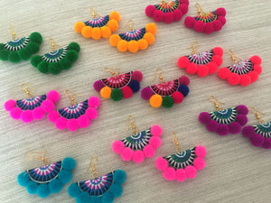 Rumba Pompom Earrings