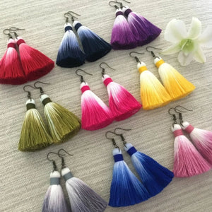 Color Dipped Earrings