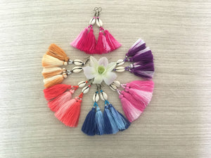 Thai Dye Tassel Earrings