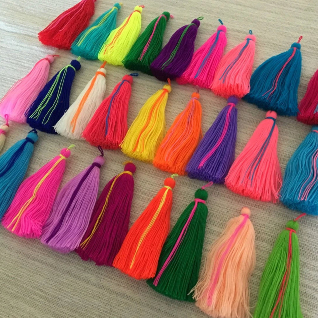Luxury Long Cotton Jewelry Tassels