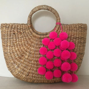 Hot Pink Pompoms for handbags