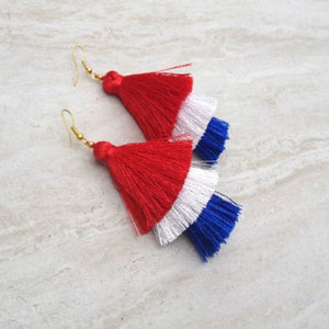 4th July Tassel Earrings