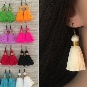 20 Pair Chloe Tassel Earrings with Gold Binding