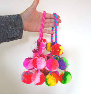 Pink Ombre Pompom Swags