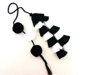 Black White Tassel Swags