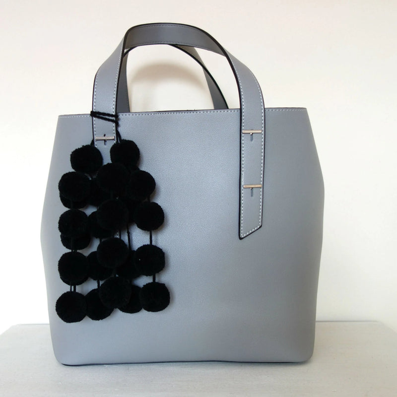 Black Pompoms for bags