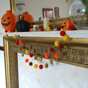 Autumn Burst Pompom Garland