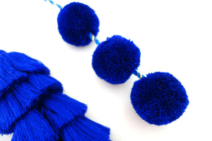 Midnight Blue Tassel Swags
