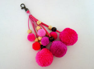 Pink Pompoms for bags