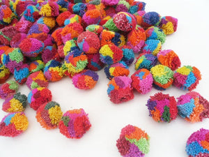Cotton Multi Colored Pompoms