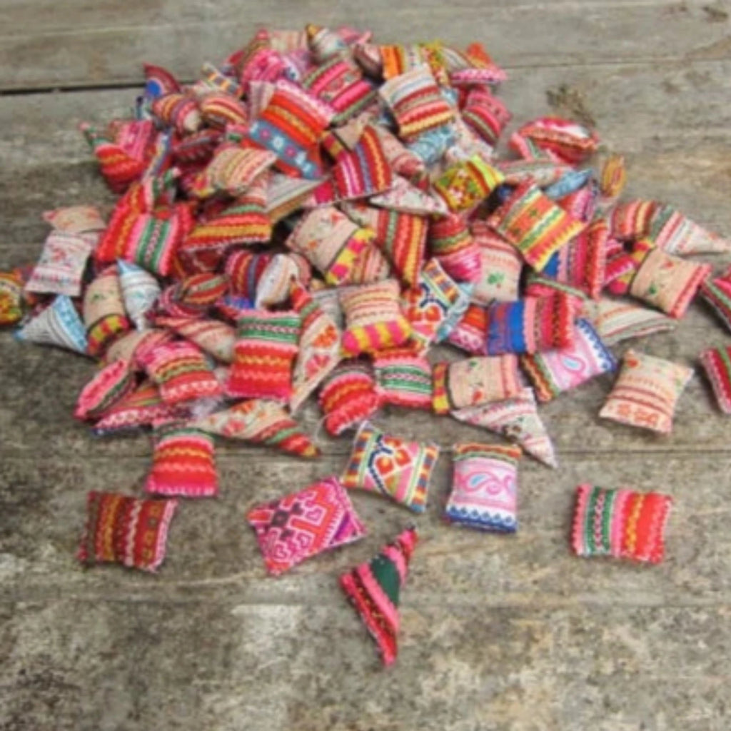 Hmong Embroidered Mini Cushions Pillows