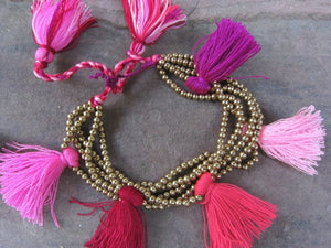 10pcs Lucy Tassel Beaded Bracelet
