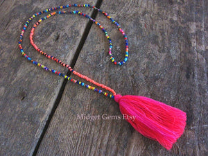 Aesha 10 pcs Seed Bead Necklace