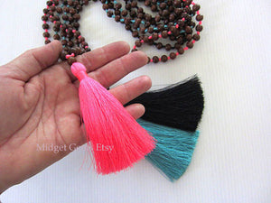 10pcs Mala Tassel Necklace
