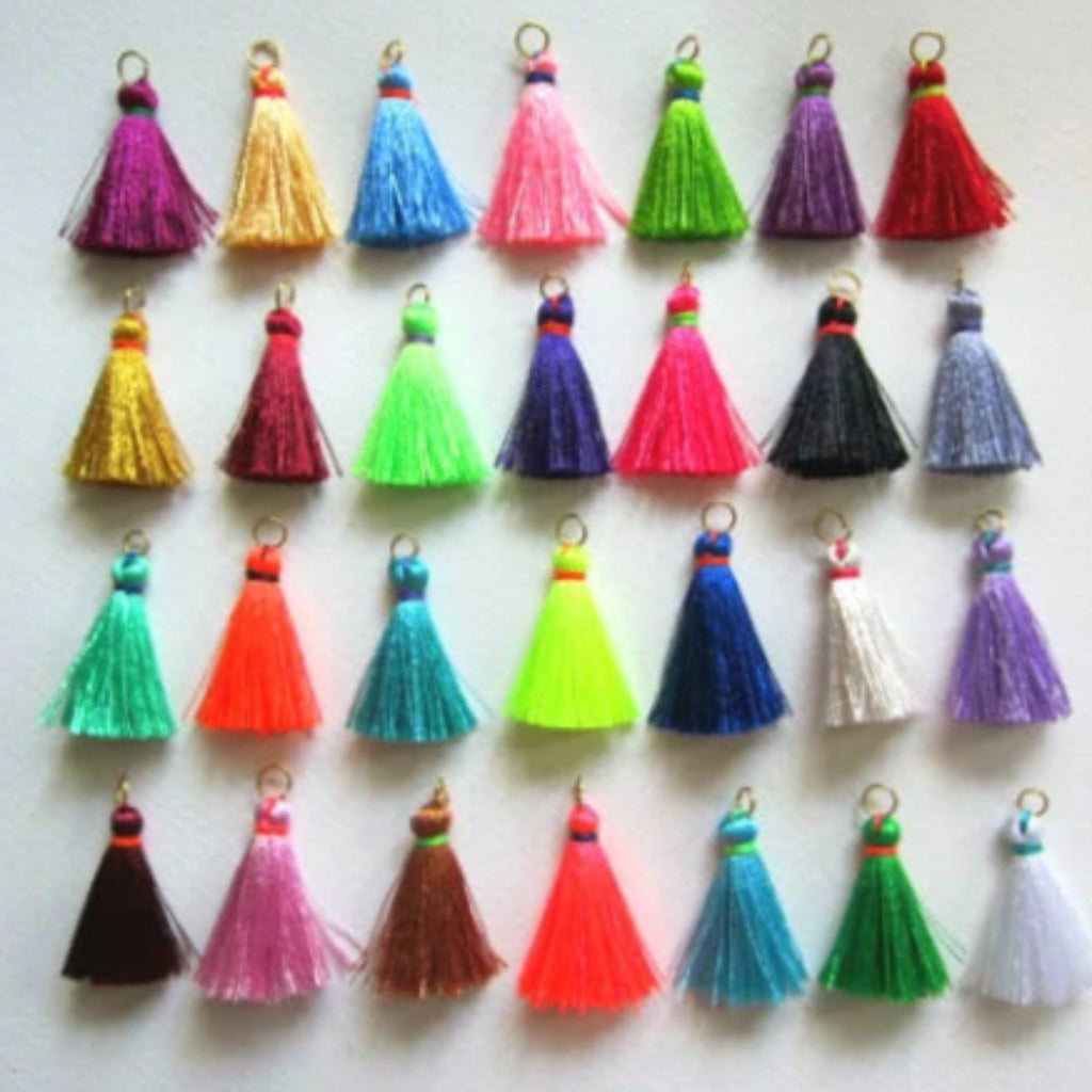 Tiny Jewelry Making Tassels, Small Silk Tassels, Customized Craft Supplies, Handmade Mini Tassels, Silky Luxe Jewelry Tassels, Wholesale