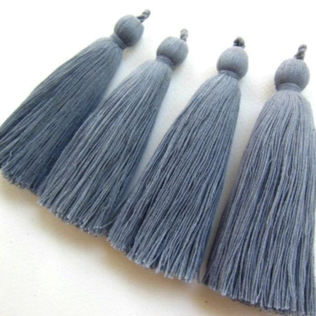 Silver Gray Long Tassels