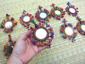 Handmade Tassel Mirror Decor