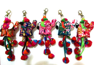Elephant Fabric Keychain Wholesale
